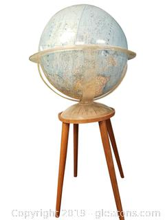 Rare 1961 National Geographic Globe And Table