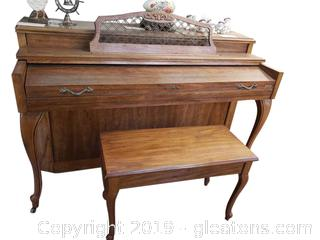 Beautiful Baldwin Upright Piano With Bench