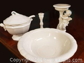 Nice White Ceramic Glazed Lot