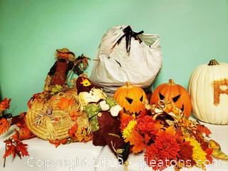 Large Fall Decor Lot