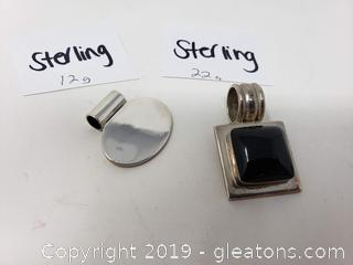 Sterling Silver Pendant Lot