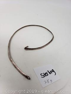 28g. Of Sterling Silver Choker Necklace