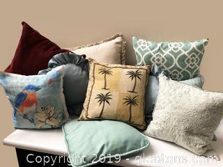 Lot Of Pillows Mixed