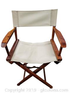 Leather Folding Directors Chairs