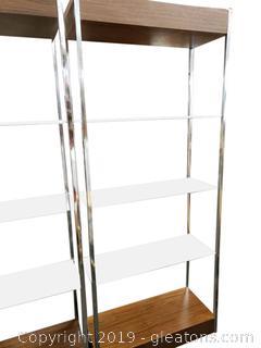 Mid Centry Modern Chrome Glass (B)