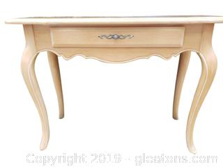 Small Console French Country Entry Table By Ethan Allen