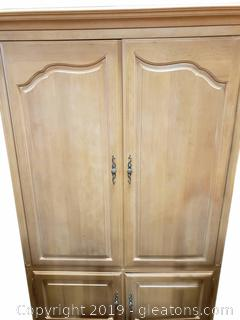French Country (E) Large T.V./Entertainment Armoire