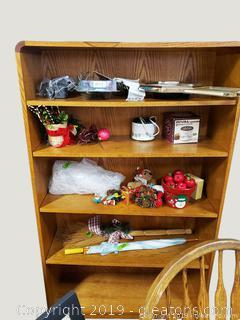 (5) Shelf Wood Bookcase