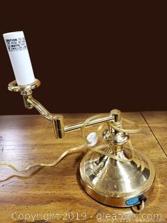 Brass Swing Arm Desk Lamp