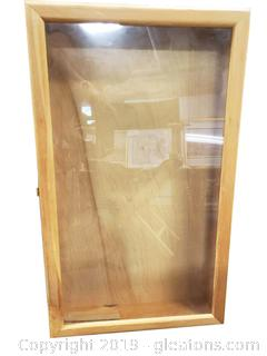 Large Wooden Shadow Box Display Case