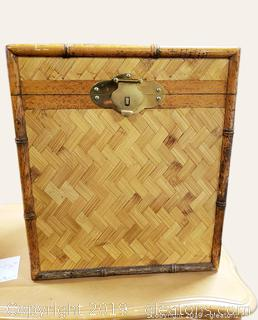 Small Bamboo Trunk With Handles