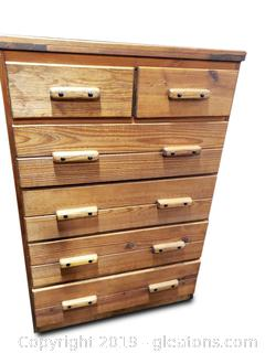Solid Wood Mid Century Rustic Farmhouse Chest Of Drawers