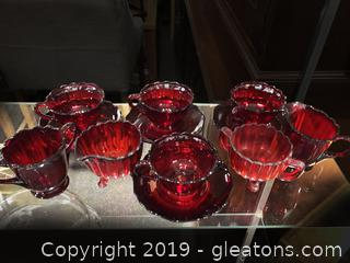 Pretty Color Of Red Tea Sets
