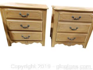 PR Of French Country (A) Ethan Allen Night Stands