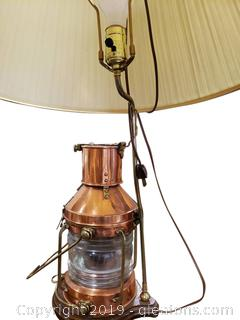 Copper And Brass Anchor Light Table Lamp (B)