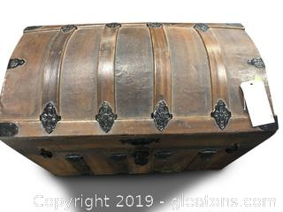 Antique Dome Top Trunk Storage Chest 1800's