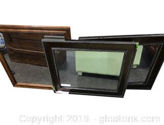 Lot Of 3 Framed Mirrors