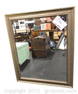 Gold Beveled Wall Mirror