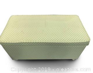 Green Polka Dot Ottoman With Storage