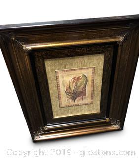 """Gold Black Wall Portrait """"TV Opical Splender"""""""