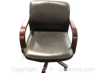 Hon Leather And Mahogany Chair