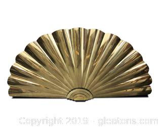 Large Brass Wall Decorative Fan