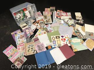 Xtra Large Mixed Craft Lot Extensive Brand New Craft Materials beading Scrap Bookings Decoupage Many More Stamps