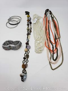 Premier Lot Of Jewelry Designer Costume