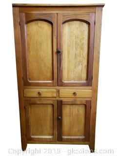 Vtg. Farm House Cabinet Food Pantry