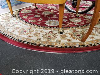 Large Round Area Rug With Pad
