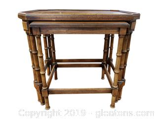 "Vtg. ""Brandt Bamboo Look Nesting Tables"