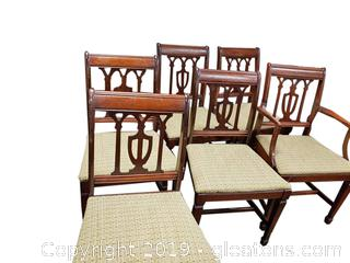 (6) Vintage Dining Chair