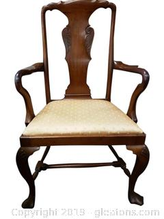 Antique Armed Dining Accent Chair
