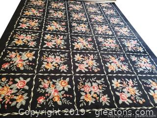 Hand Woven Wool Floral Rug