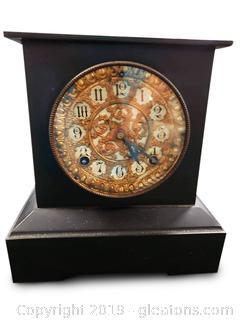 """Ansonia Clock Co."" Vtg. Mantel Clock"