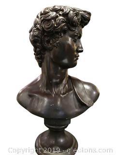 "Vtg ""David"" Austin Productions Bust Sculpture Michelangelos David ""1966"""