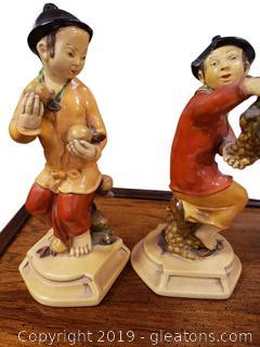 Anri Vtg 160's Oriental Figurines