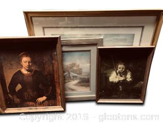 Mixed Lot Of New And Vintage Wall Art
