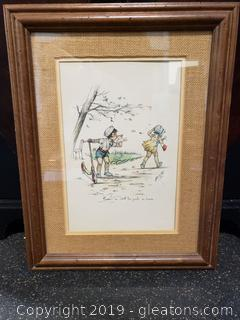 Original Watercolor 1927 French Signed and #'d