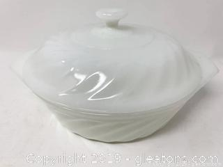 Fire King Lidded Casserole