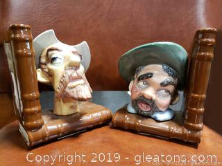 Old Timers Ceramic Bookends