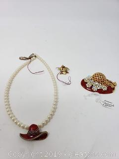 Red Hat Costume Jewelry
