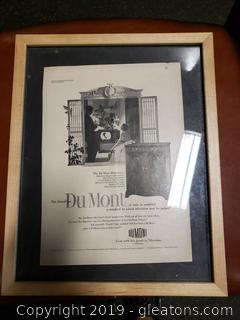 Dumont Advertisement Framed Picture