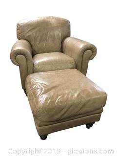 Nice Leather Chair And Ottoman