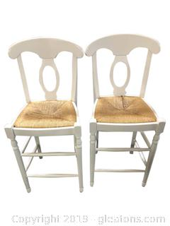 Pair Of Farm House Bar Seats