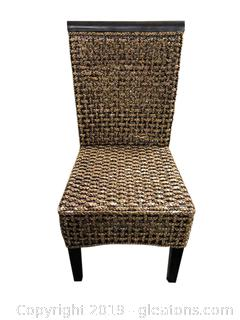 Small Wood And Rattan Chair