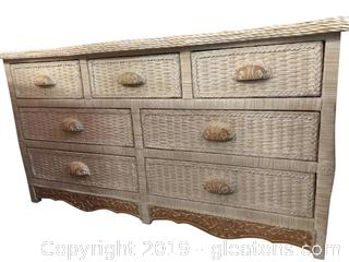 High End Wicker Dresser