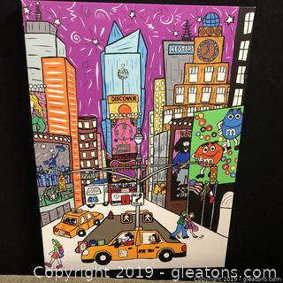 Depicted Art Of Times Square NYC NY