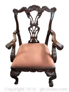 Mahogany Ball And Claw Chair