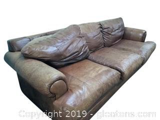 Leather Couch From Distinction Of NC - (A)